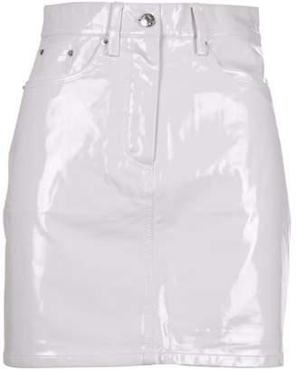 Calvin Klein Jeans Vinyl High Rise Skirt