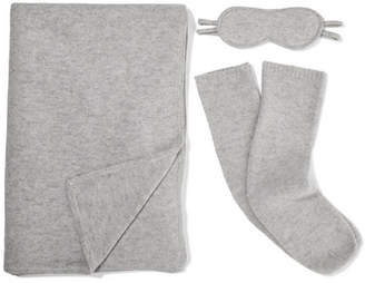 Le Kasha - Cashmere Travel Set - Light gray