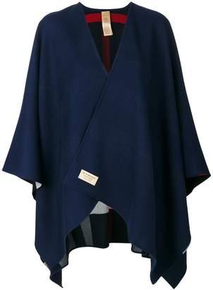 Burberry Reversible Check Merino Wool Poncho