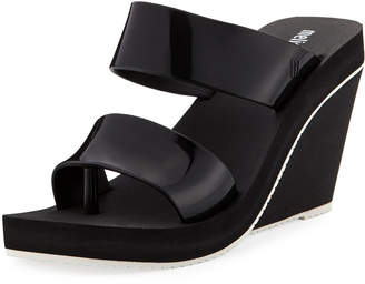Melissa Shoes Summer Two-Strap High Wedge Sandal