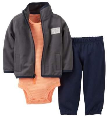 Infant Boy 3 Piece Elephant Outfit Sweat Pants Creeper Jacket Hoodie 9m