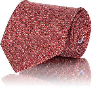 Salvatore Ferragamo Men's Turtle-Print Silk Twill Necktie