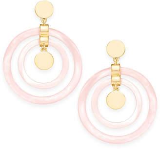 DKNY Gold-Tone Resin Drop Earrings