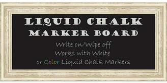 Amanti Art Country White Wash 34x16 Framed Liquid Chalk Marker Board