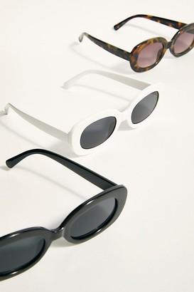 Free People Freja Oval Sunglasses