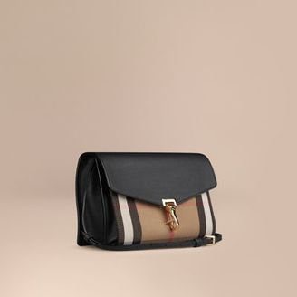 Burberry Small Leather and House Check Crossbody Bag $1,095 thestylecure.com