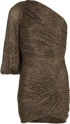 Peter Pilotto Metallic One Shoulder Mini Dress