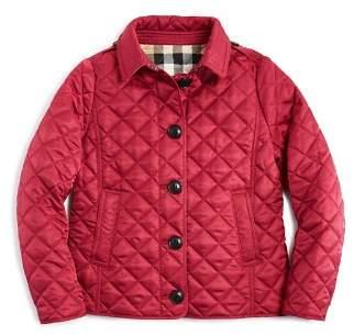 Burberry Girls' Diamond Quilted Jacket - Little Kid, Big Kid
