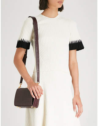 Alexander McQueen Contrast-cuff ribbed-knit T-shirt