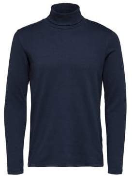 Selected Long-Sleeve Cotton Turtleneck