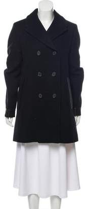 Tom Ford Leather-Trimmed Cashmere Coat