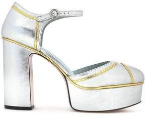 Marc Jacobs Woman Studded Glossed-leather Platform Sandals Black Size 36 Marc Jacobs nIuQTG6o