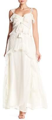 Love Sam Blossom Ruffled Maxi Dress