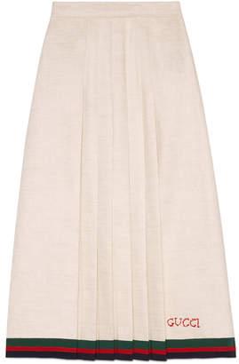 Gucci Linen pleated skirt