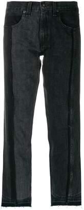 Rag & Bone Jean two tone cropped jeans