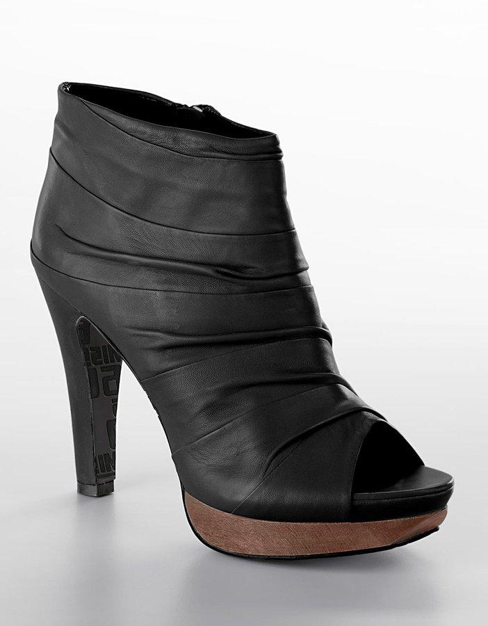 Miss Sixty Jaiden Scrunched Platform Peep-Toe Booties