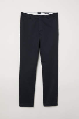 H&M Cotton Chinos Slim fit - Gray