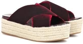 Miu Miu Velvet platform espadrille sandals