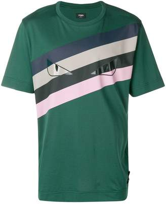 Fendi striped eyes T-shirt