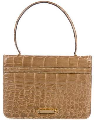 Saks Fifth Avenue Vintage Alligator Handle Bag