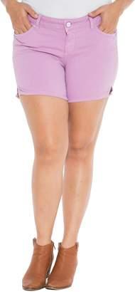 SLINK Jeans Camo Side Slit Shorts