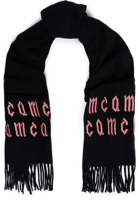 McQ Embroidered Wool Scarf