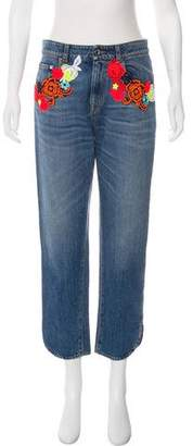 Christopher Kane High-Rise Straight Jeans