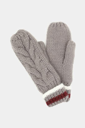Ardene Cable-Knit Mittens