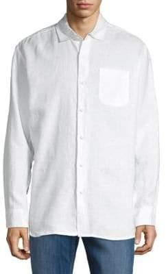 Saks Fifth Avenue Classic Linen Button-Down Shirt