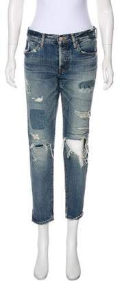 Moussy Distressed Mid-Rise Jeans