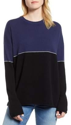 Velvet by Graham & Spencer Cashmere Colorblock Sweater