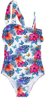MC2 Saint Barth Butterfly Print Lycra One Piece Swimsuit