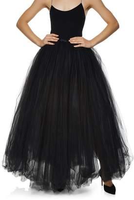 Juan Carlos Piñera Black Tulle Full Skirt