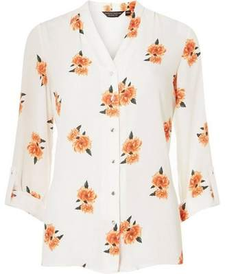 Dorothy Perkins Womens Ivory Floral Shirt
