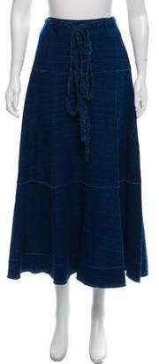 Elizabeth and James Textured Denim Skirt