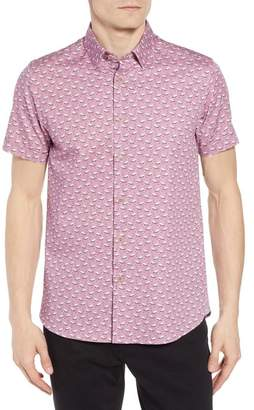 Ted Baker Norflam Flamingo Print Sport Shirt