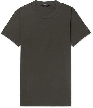 Tom Ford Slim-Fit Cotton-Jersey T-Shirt - Men - Army green