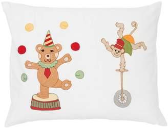 Loretta Caponi Hand-Embroidered Cotton Pillow