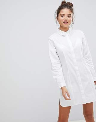 Asos Design FULLER BUST Cotton Shirt mini dress
