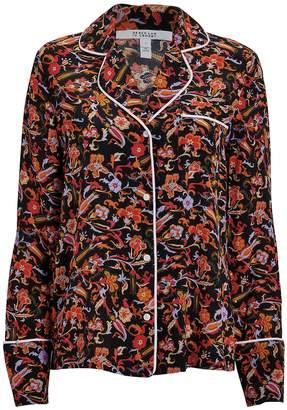Derek Lam 10 Crosby Paisley Crepe Pajama Shirt