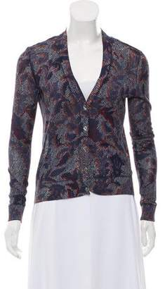 Tory Burch Printed V-Neck Cardigan