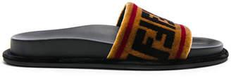 Fendi Velvet Logo Sandals