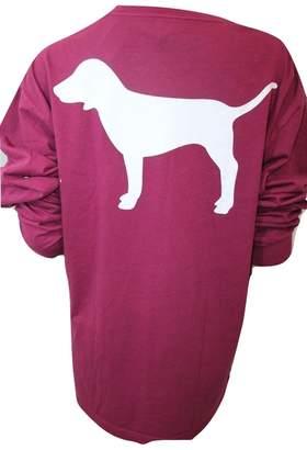 Victoria's Secret Pink Pink Campus Pocket T-Shirt Crew Neck XSmall Color Oversize NWT