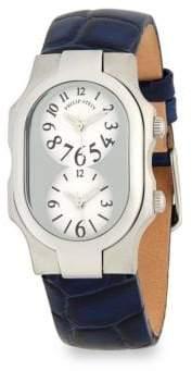 Philip Stein Teslar Classic Leather Strap Watch
