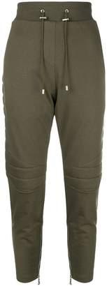 Balmain high-waisted drawstring trousers