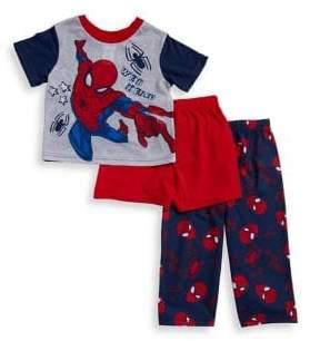 AME Sleepwear Little Boy's Spiderman Three-Piece Pajama Set