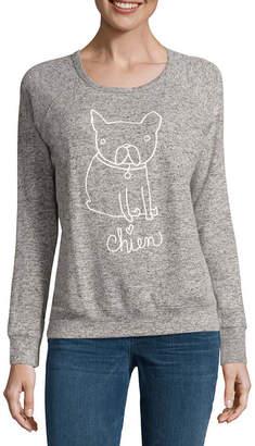Buffalo David Bitton Dog Graphic Cozy Sweatshirt Top