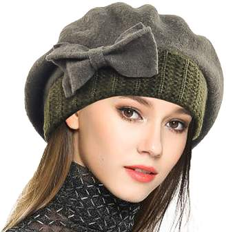 at Amazon Canada · Cloche JESSE · RENA Woen Wool French Beret Angola Beanie  Skull Cap Winter Hats a9ccadc22f9d