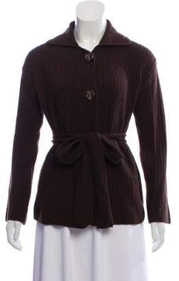 Max Mara Wool and Cashmere-Blend Button-Up Cardigan