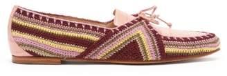 Gabriela Hearst Hays Crocodile Effect Leather Loafers - Womens - Pink Multi